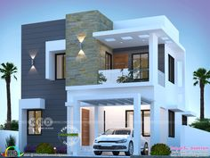 Modern Houses Discover 3 BHK cute modern house 1550 sq-ft 1550 square feet 3 bedroom modern contemporary house plan by Dream Form from Kerala. Small Modern House Plans, Modern Small House Design, Modern Exterior House Designs, Modern Architecture House, Cool House Designs, Modern House Facades, Exterior Design, Architecture Design, Sustainable Architecture