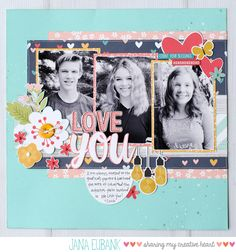 I recently treated myself to a shopping spree at a local scrapbook store here in Utah, and I couldn't resist picking up the darling Faith collection by Simple Stories. I love all the colors a… Scrapbook Sketches, Scrapbook Page Layouts, Scrapbook Paper Crafts, Scrapbook Cards, Scrapbooking Ideas, Scrapbook Expo, Scrapbook Rooms, Kids Scrapbook, Digital Scrapbooking