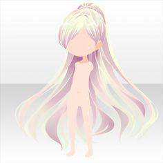Anime Long Hair, Manga Hair, Female Anime Hairstyles, Drawing Hairstyles, Long Hairstyles, Chibi Hair, Pelo Anime, Hair Sketch, Fantasy Hair