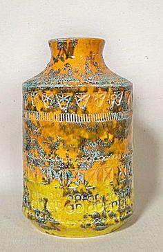Bitossi Raymor labeled brutalist bottle vase - $250