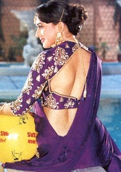 25 Years Of Hum Apke Hain Koun: Madhuri Dixit's Iconic Purple Saree Look Alone Cost This Much! Indian Actress Hot Pics, Bollywood Actress Hot Photos, Indian Bollywood Actress, Beautiful Bollywood Actress, Most Beautiful Indian Actress, Beautiful Actresses, Indian Actresses, Bollywood Outfits, Bollywood Fashion