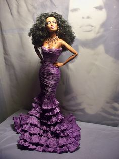 The Color Purple featuring Diana Ross Barbie Gowns, Barbie Clothes, Diana Ross, Barbie Celebrity, Diva Dolls, Dolls Dolls, Barbie Mode, African American Dolls, Poppy Parker