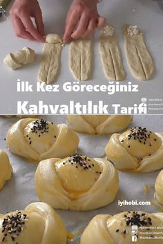 Bakery Recipes, Brunch Recipes, Dessert Recipes, Cooking Recipes, Turkish Recipes, Food Crafts, Strudel, Food Hacks, I Foods
