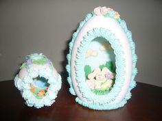 . Sugar Eggs For Easter, Easter Bunny, Easter Eggs, Easter Crafts, Fun Crafts, Karma, Cake Decorating, Nostalgia, Rabbit
