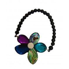 Peacock flower stretch bracelet
