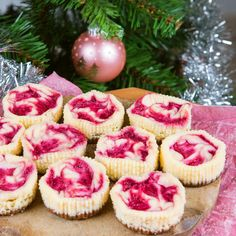 Creamy and delicious mini cheesecakes. A colorful, light addition to the holiday feast!