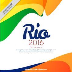 fundo colorido abstrato Brasil Vetor grátis