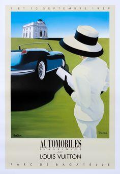 Razzia poster: Automobiles Classiques avec Louis Vuitton (med. format open edition)
