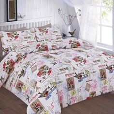 Tilly Floral Printed Grey Duvet Quilt Cover Set — Linens Range