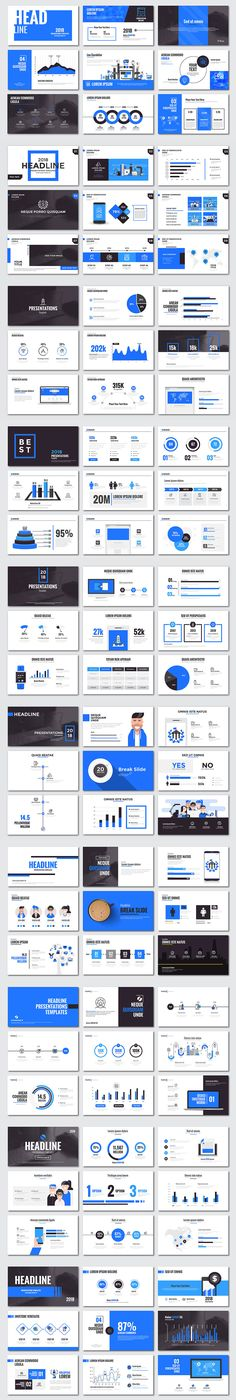 Presentation slide templates and business brochures. Set of modern infographic elements for web, print, magazine, flyer, brochure, media, marketing and advertising concepts.This is a simple, contemporary design that includes creative layouts, infographic…