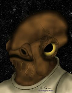 Commission of Admiral Ackbar from Star Wars Admiral Ackbar, Mona Lisa, Star Wars, Fan Art, Stars, Artwork, Work Of Art, Auguste Rodin Artwork, Sterne