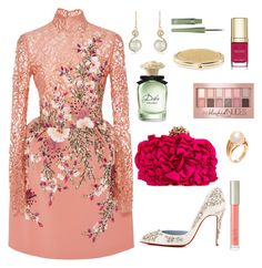 """""""This dress though"""" by miss-shan-nicole ❤ liked on Polyvore featuring Georges Hobeika, Effy Jewelry, Ilia, Maybelline, Poiray Paris, Dolce&Gabbana, Rimmel and Chico's"""