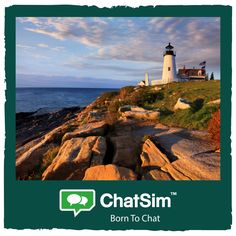 Carrie B. from New England: Romantic sunset at the lighthouse. Shared with #ChatSim. App used: Kik - Credit used: 10 (photo size 100 KB) www.chatsim.com