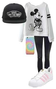 """Random AF 2"" by skateisbae ❤ liked on Polyvore featuring Topshop, Vans and adidas"