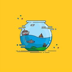from @auto.graphic -  Ocean Bowl... #Ocean #bowl #fishbowl #adobeillustrator #illustrator #design #adobe #graphicdesign #illustration #digitaldesign #graphics #vector #vectorart #flatdesign #digitalillustration #vectorillustration #vectordesign #graphicdesigncentral #bestvector #flat #photoshop #graphicroozane #art #creative #bydesigners #simplycooldesign #supplyanddesign #vectorwars #vaniladesign
