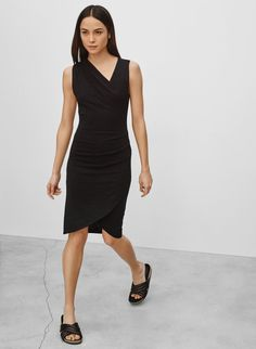 WILFRED FREE IZIDORA DRESS - Sometimes it pays to be a little off centre