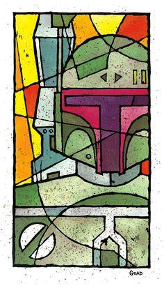 """Stainglass"" illustrations by Jason Goad at Coroflot.com"