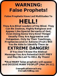 false prophets false teachers