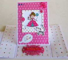 Whizz Kids papers and embellishments It's Your Birthday, Girl Birthday, Kids Cards, Embellishments, Decoupage, Create, Paper, Projects, Inspiration