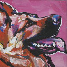 German Shepherd art print pop dog art bright colorful dog portrait art 8x8. $11.99, via Etsy.