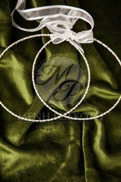 Silver wreaths - stefana with swarovski crystals Drawstring Backpack, Swarovski Crystals, Backpacks, Wreaths, Bridal, Wedding Crowns, Silver, Bags, Wedding Stuff
