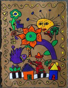 Mexican bark painting   Anne Ernst (art teacher)