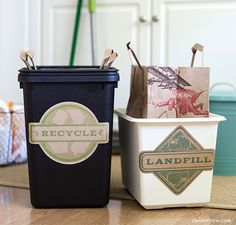 Keep your trash sorted in style with these printable recycle and landfill labels.