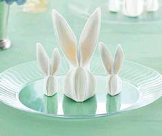 Bunny Napkin Fold   Chinet