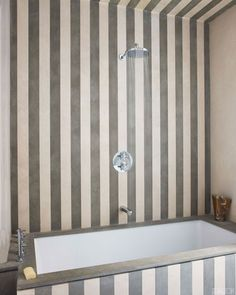 Striped Bathroom Design Jean Louis Deniot