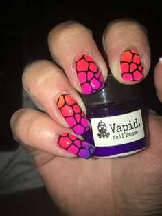 Glam glaze neon polishes and stamping plate moyra animals