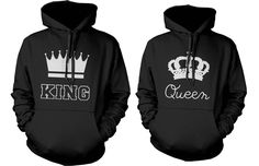Graphic King and Queen Matching Couple Hoodies (Set)