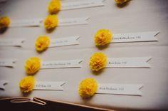 diy seating cards - autumn dreamy garden wedding by soda fountain photography