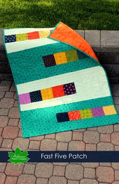 We all wish we had more time to quilt. With this great new pattern, you will be able to finish a quilt in a day!  Our Fast Five Patch quilt is available in two