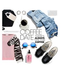 """zebra coffee time"" by nataskaz ❤ liked on Polyvore featuring R13, Hayley Menzies, Gucci, Danse Lente, Moa', Tiffany & Co. and CoffeeDate"