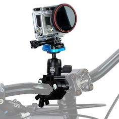 Fotodiox Pro GoTough Talon Handlebar / Seatpost QR Mount - Aluminum GoTough Bicycle Pipe Clamp Mount for GoPro HD Hero, Hero2, Hero3, Hero3+ Cameras with Quick-Release Clips (Quick Release Buckle System)
