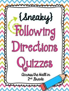 Following Directions Quizzes {FREEBIE!!!!}