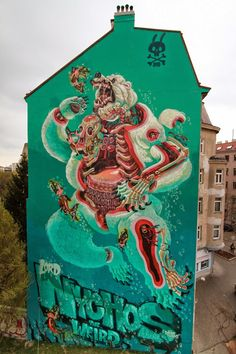 "Master surgeon Nychos is back in Vienna, Austria where he spent the last few days working on a gigantic piece entitled ""Dissection Of A Polar Bear""."