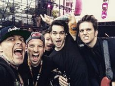 Another picture from Weenie Roast featuring Brendon Urie, Josh Dun, and Dallon Weekes