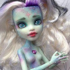 Monster High OOAK Frankie Stein Repaint by NerdysCustoms on Etsy https://www.etsy.com/listing/503414157/monster-high-ooak-frankie-stein-repaint