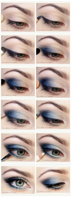 Eyeshadow Tutorials for Blue Eyes | 12 Colorful Eyeshadow Tutorials For Blue Eyes by makeup Tutorials at http://makeuptutorials.com/12-colorful-eyeshadow-tutorials-blue-eyes/ #slimmingbodyshapers To create the perfect overall style with wonderful supporting plus size lingerie come see slimmingbodyshapers.com                                                                                                                                                     More