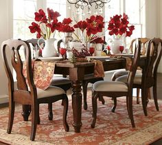 queen anne cherry wood dining table | oval table, queen anne and