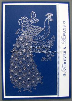 Perfect Peacock in Silver | Discover Ink – Ann Gerlach Independent Stampin' Up!® Demonstrator
