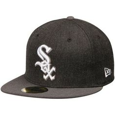 da7ffb435fa15 Chicago White Sox New Era Action 59FIFTY Fitted Hat - Heathered  Black Heathered Gray