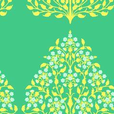 Amy Butler - Lark Sateen - Henna Trees in Grass