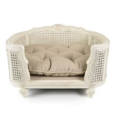 Luxury dog sofa Louis XV style, with striking curved solid oak frame.
