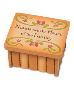 Look at this #zulilyfind! 'Nanas are the Heart' Keepsake Box #zulilyfinds