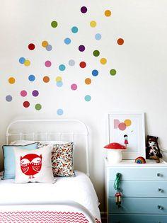 | Multicolour confetti walls for kid's rooms