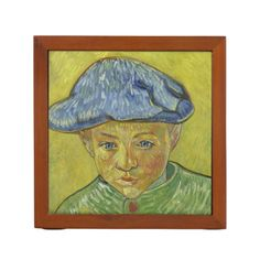 Camille Roulin by Vincent Van Gogh Desk Organizers