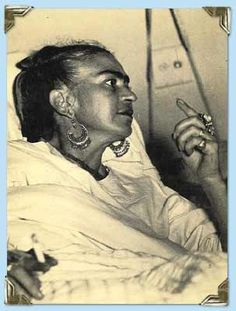 Postcard of Frida, hospitalized in Mexico Photo credit: Unknown