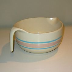 Vintage McCoy Pottery Co. Batter Bowl from the Stonecraft Pink and Blue Collection